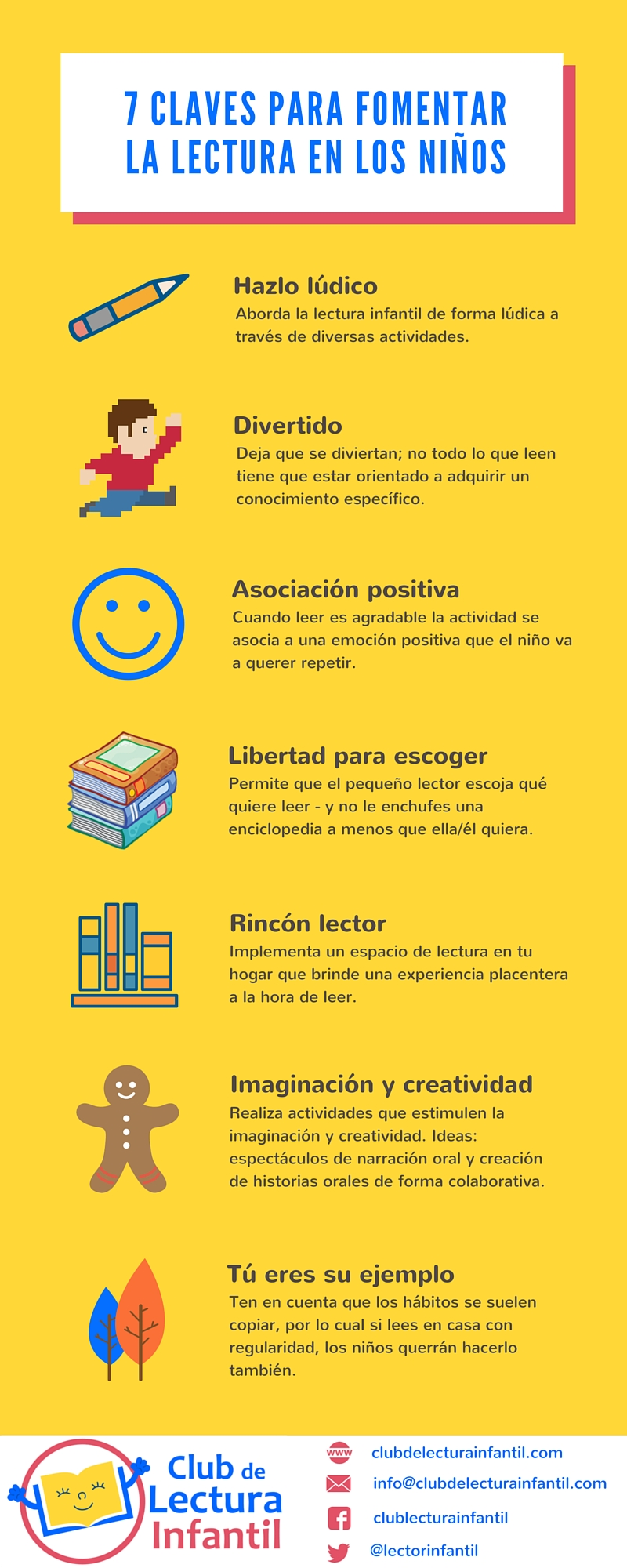 Infografía - 7 claves para promover la lectura en los niños